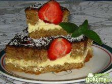 Ciasto kawowe z truskawkami