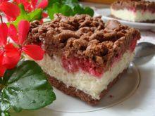 Ciasto kokosowo-kakaowe z malinami