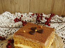 Ciasto krówka z miodowym kremem i pianką