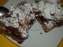 Ciasto kruche śliwkowo - wiśniowe