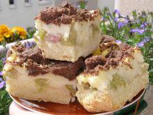 Ciasto kruche z rabarbarem, budyniem i kruszonką