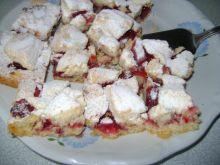 Ciasto kruche z truskawkami oraz kruszon
