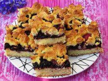 Ciasto krucho- drożdżowe z owocami leśnymi