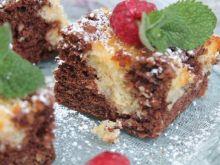 Ciasto łaciate z malinami