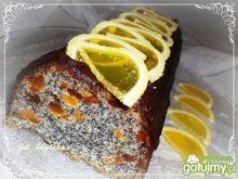 Ciasto makowe z białek z bakaliami