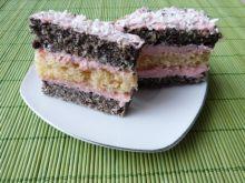 Ciasto makowo-biszkoptowe z masą