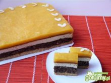 Ciasto makowo-serowe z musem z brzoskwiń