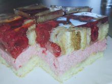 Ciasto malinowe z przezroczystą galaretką