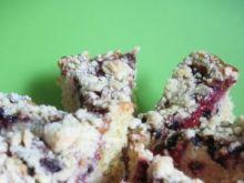 Ciasto malinowo-jagodowe z kruszonką