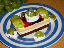 Ciasto Marcinek jagodowo-winogronowy