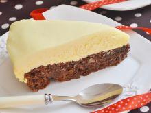 Ciasto migdałowe z musem czekoladowym