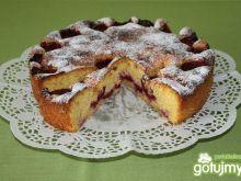 Ciasto migdałowe ze śliwkami