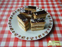 Ciasto miodowe z kremem i powidłami