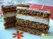 Ciasto miodowe z masą migdałową