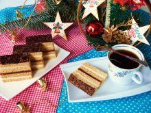 Ciasto miodowe z migdałową masą