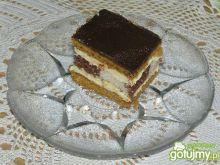 Ciasto miodowe z szachownicą
