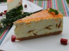Ciasto mleczne z rabarbarem