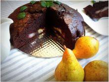 Ciasto mocno czekoladowe z gruszkami