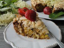 Ciasto na kefirze z kwiatami bzu