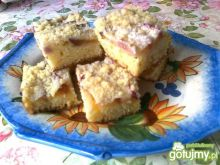 Ciasto nektarynkowe z kruszonką