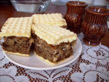 Ciasto obkładane waflem