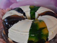 Ciasto obłoczek tęczowy
