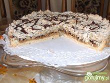 Ciasto orzechowe z bezą owsianą