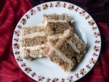 Ciasto orzechowe z kremem
