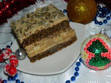Ciasto orzechowe z masą z kawy rozpuszczalnej