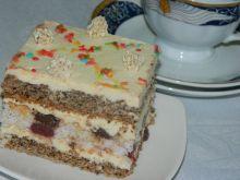 Ciasto orzechowe z wkładką bakaliową