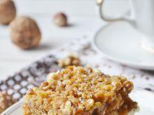Ciasto orzechowo - budyniowe