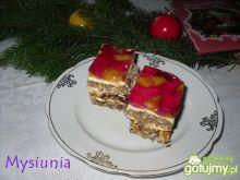 Ciasto orzechowo - delicjowe