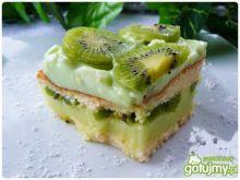 Ciasto piankowe z soczystym kiwi