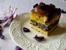 """Ciasto """"pijak"""" z brzoskwiniami"""