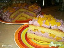 Ciasto porzeczkowo brzoskwiniowe