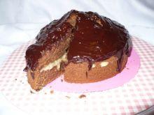 Ciasto potrójnie czekoladowe z kokosem