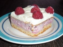 Ciasto sernikowe z malinami