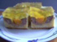 Ciasto serowo-brzoskwiniowe z galaretką