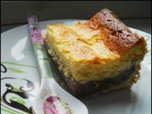 Ciasto serowo-budyniowe z brzoskwinią
