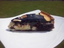 Ciasto serowo-czekoladowe z jeżynami