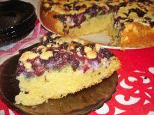 Ciasto śmietankowe z borówkami, serem i kruszonką