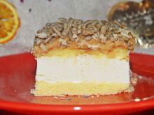 Ciasto śmietankowe z krówką i słonecznikiem