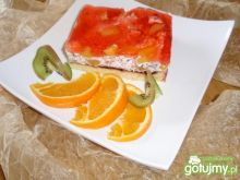 Ciasto smietankowo brzoskwiniowe