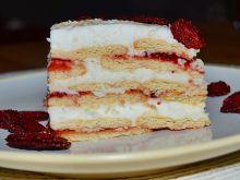 Ciasto śmietankowo-truskawkowa chmurka