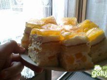 Ciasto śmietanowe z brzoskwiniami 2