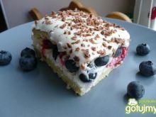 Ciasto śmietanowe z owocami  Elfi
