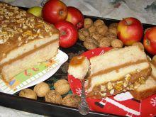 Ciasto torebkowe z musem jabłkowym i orzechami
