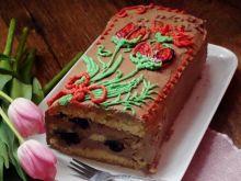 Ciasto tortowe z kremem czekoladowym