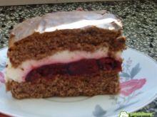 Ciasto tortowe z wiśniami