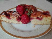Ciasto truskawkowe na kruchym spodzie